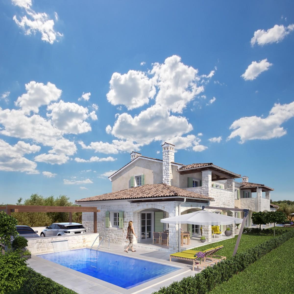 Neues Haus mit Pool, Meerblick, Novigrad, Istrien, Kroatien (10632)